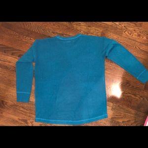 EUC Sweet RomeoBlue Perforated Crewneck Sweater